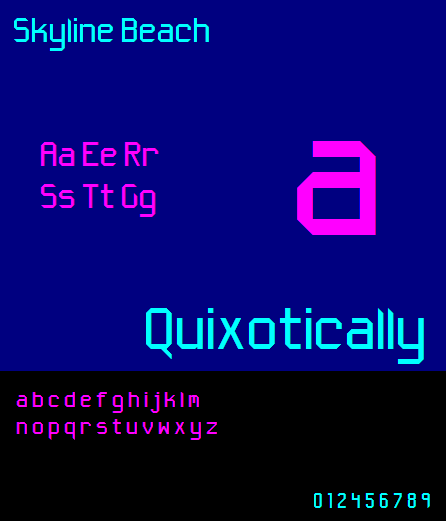 Skyline Beach NBP font by total FontGeek DTF, Ltd.