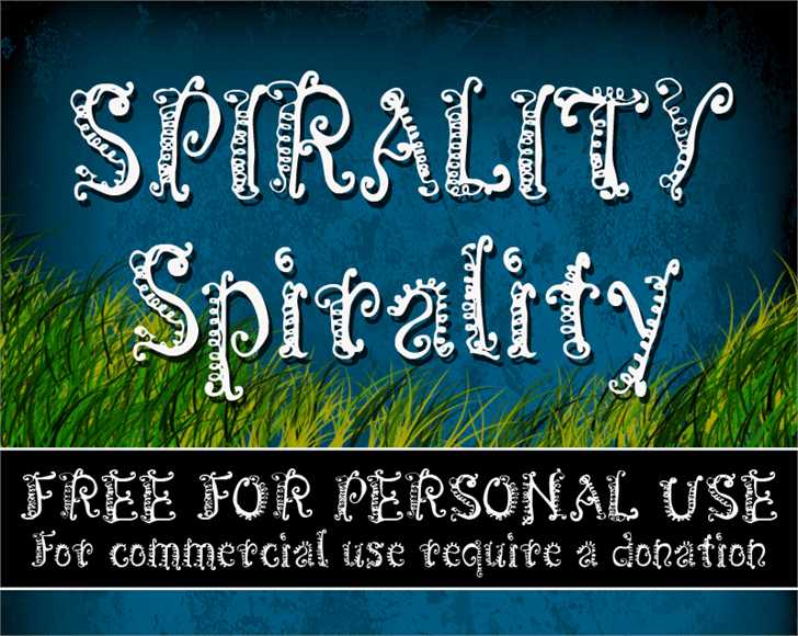 Image for CF Spirality font