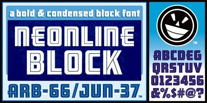 Image for ARB 66 Neon Line JUN-37 font