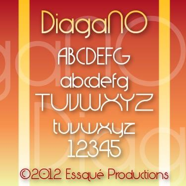 DiagaNO font by Essqué Productions