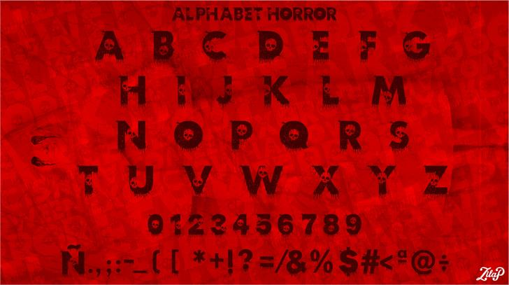 Image for Zilap Horror font