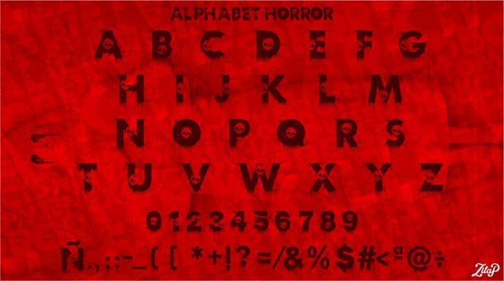 Zilap Horror font by ZILAP ESTUDIO - ZP