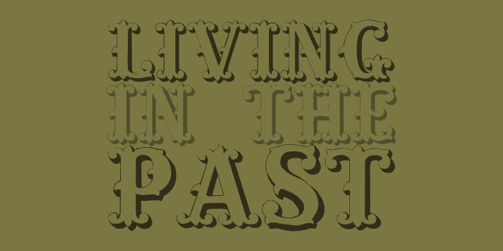 Image for Living in the Past font