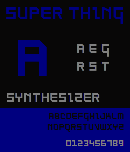 Image for SuperThing NBP font