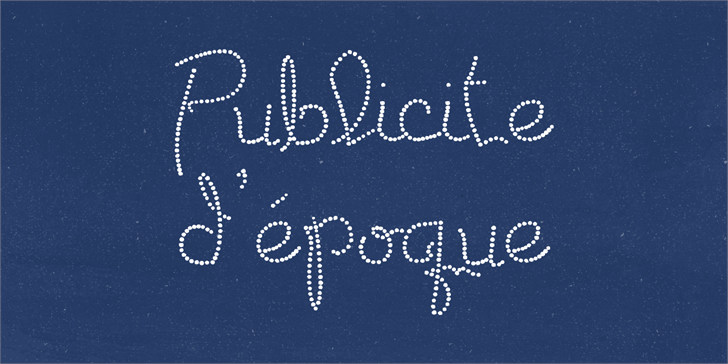 Publicite d'epoque basic font by Lauren Ashpole