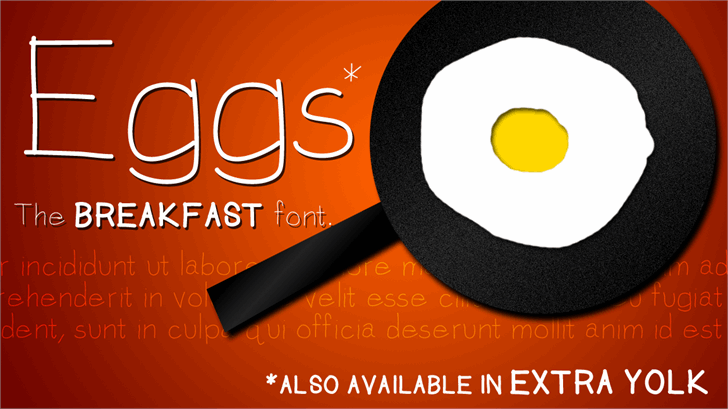 Eggs font by Jake Luedecke Motion & Graphic Design
