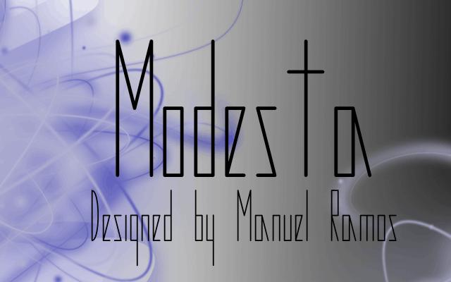 Image for Modesta font