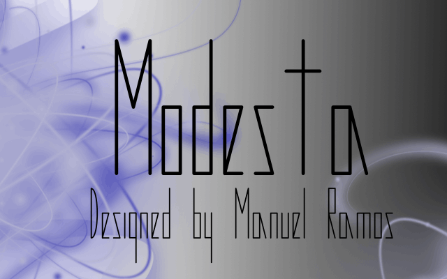 Modesta font by M.Ramos