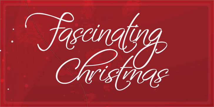 Image for Fascinating Christmas font