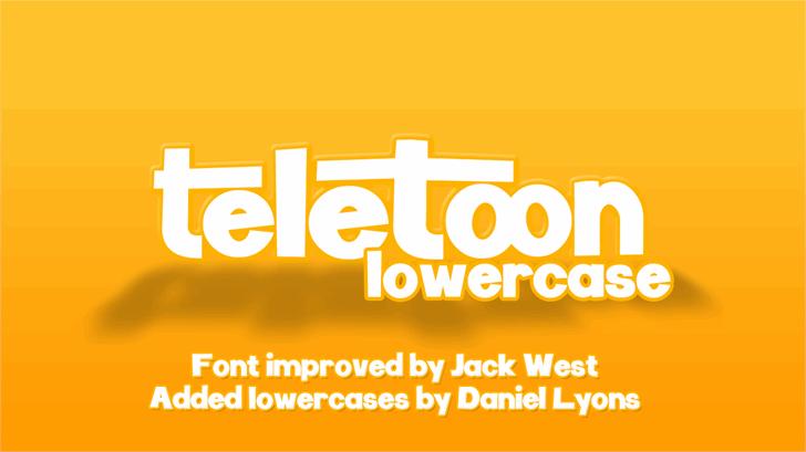Image for Teletoon Lowercase font