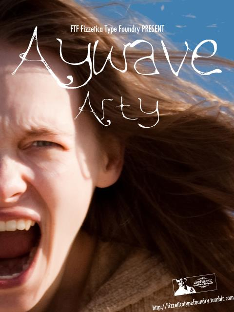 Image for FTF Aywave Arty font