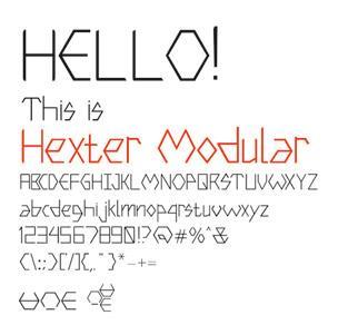 Image for Hexter Modular font