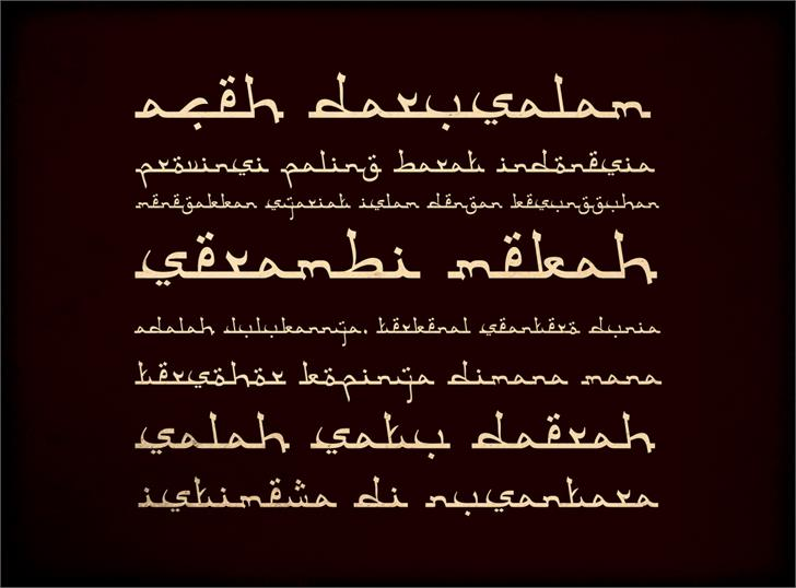 Image for Aceh Darusalam font