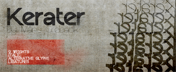 Image for Kerater font