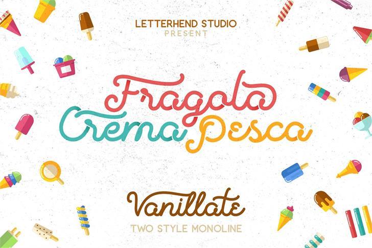 Vanillate font by Letterhend Studio