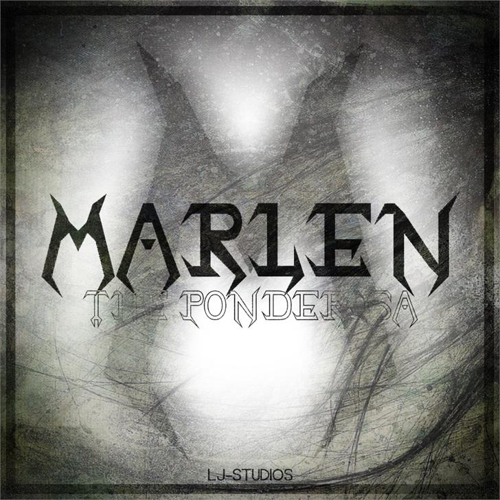 Image for Marlen The Ponderosa font