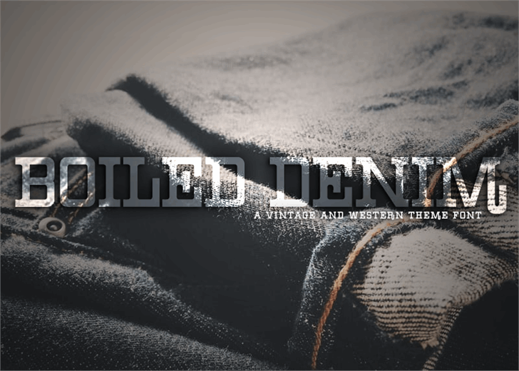 Image for Boiled Denim font