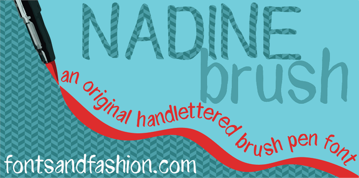 Image for NADINE brush font