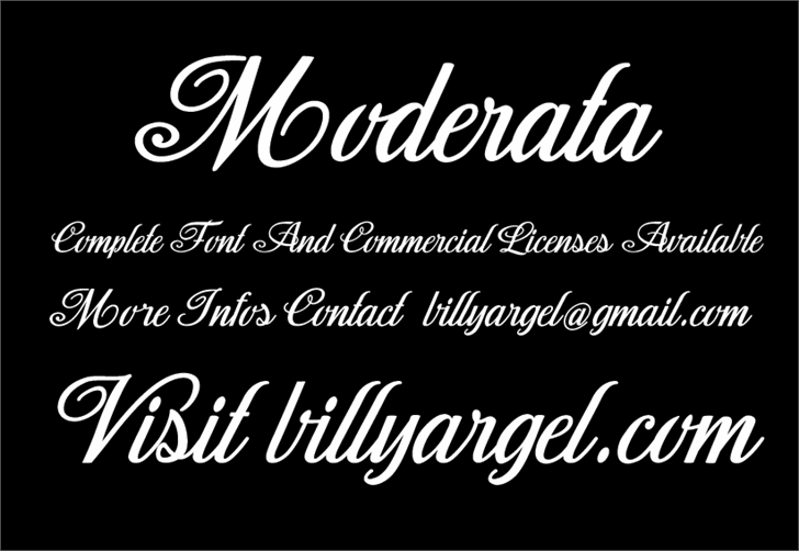 Moderata Personal Use font by Billy Argel