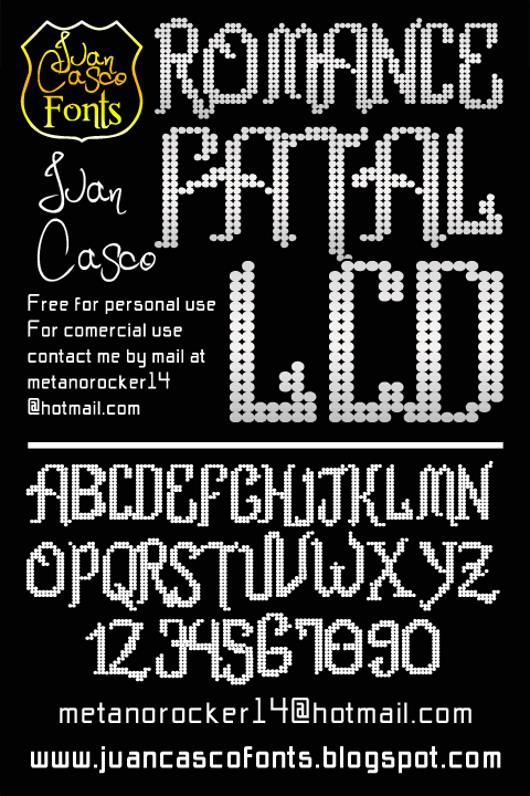 Image for Romance fatal LCD font
