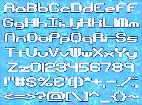 Hyperion Sunset BRK font by Ænigma Fonts