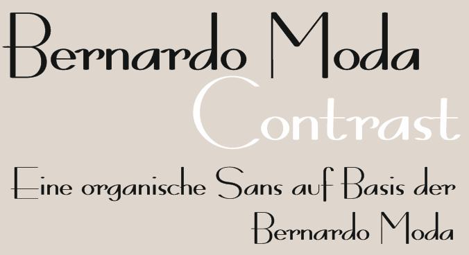 Bernardo Moda Contrast font by Peter Wiegel