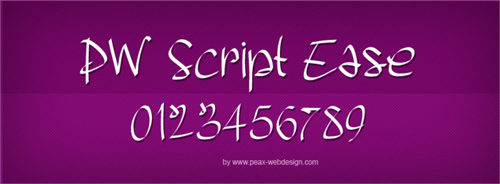 PWScriptease font by Peax Webdesign