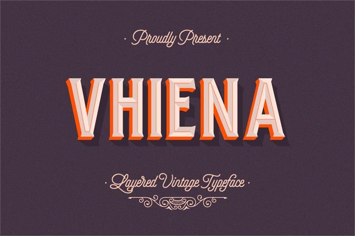 Image for Vhiena Outline font