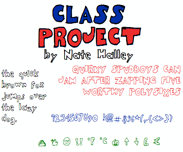 Image for ClassProjectNBP font