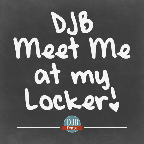 DJB Meet Me at My Locker font by Darcy Baldwin Fonts