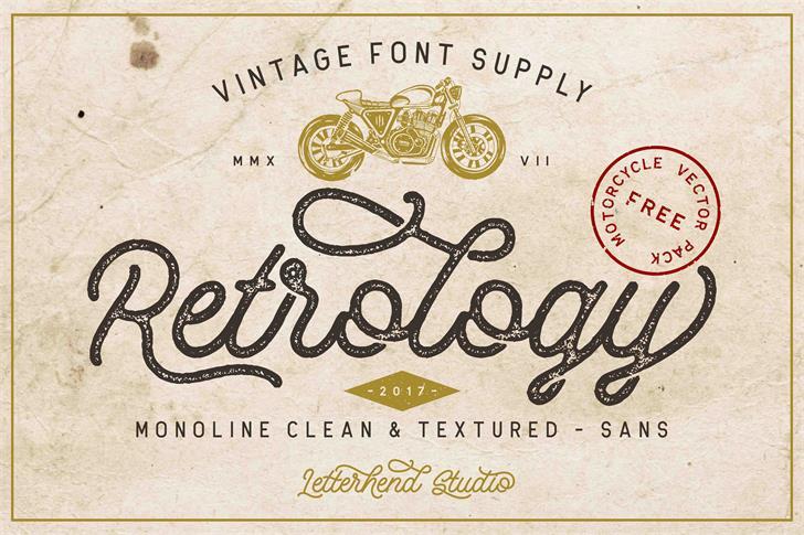 Retrology DEMO font by Letterhend Studio