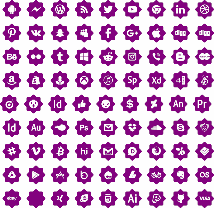 font 120 icons font by elharrak