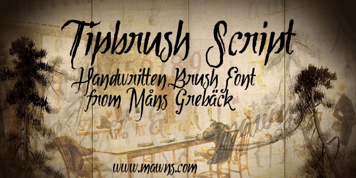 Image for Tipbrush Script font