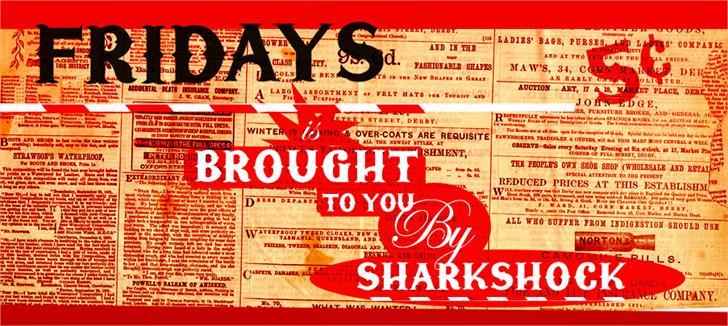 Fridays font by sharkshock