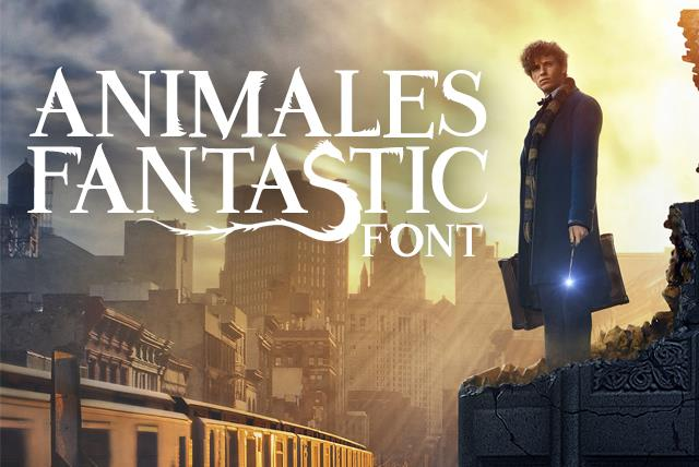 Image for Animales Fantastic font