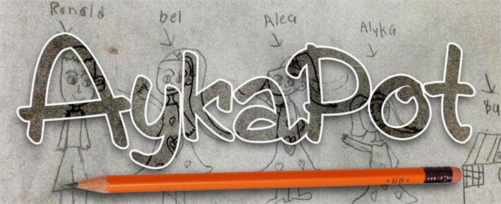 AykaPoT font by VVB DESIGNS