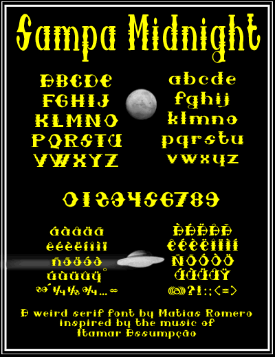 Image for Sampa Midnight font