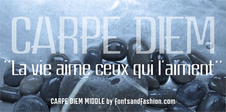 Image for CARPE DIEM MIDDLE demo font