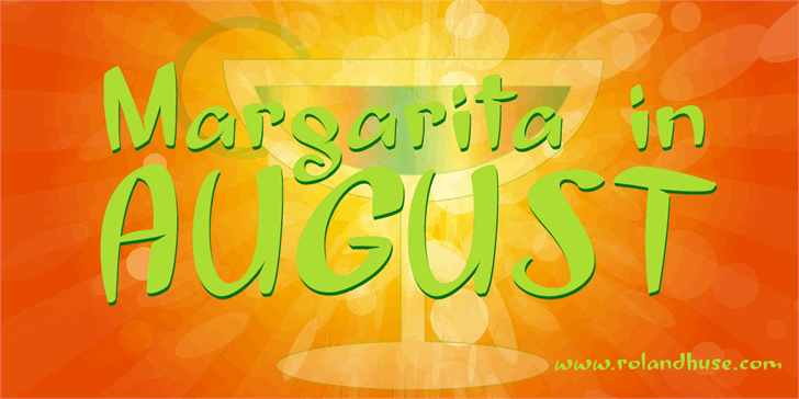 Image for Margarita in August font