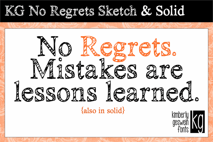 Image for KG No Regrets font