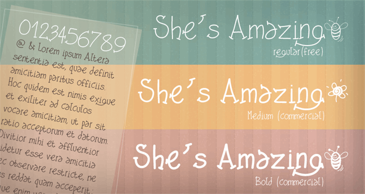 PWShesAmazing font by Peax Webdesign