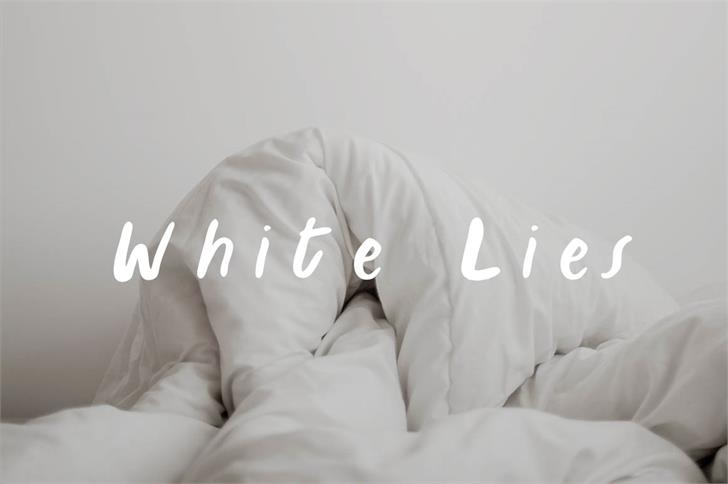 Image for White Lies font