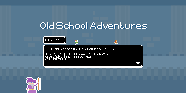 Image for Old School Adventures font