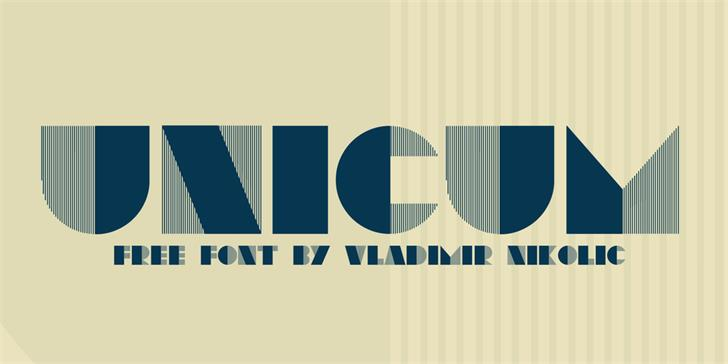 Unicum font by Vladimir Nikolic