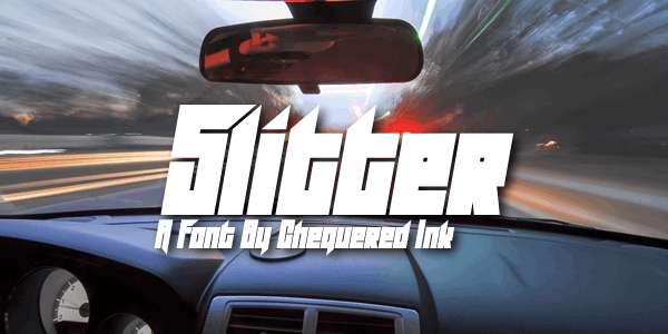 Slitter font by Chequered Ink