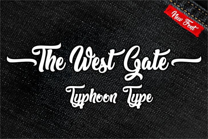 The West Gate font by Typhoon Type - Suthi Srisopha