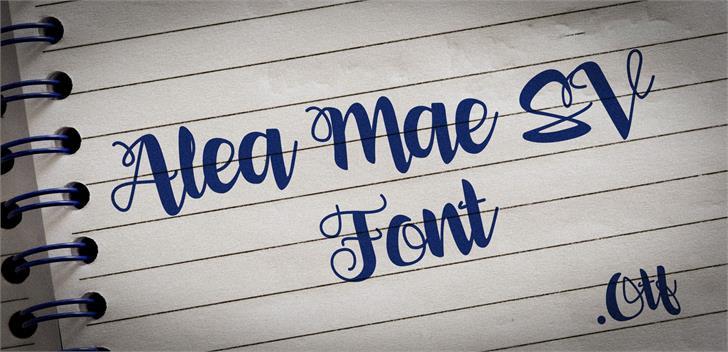 Alea Mae SV font by VVB DESIGNS
