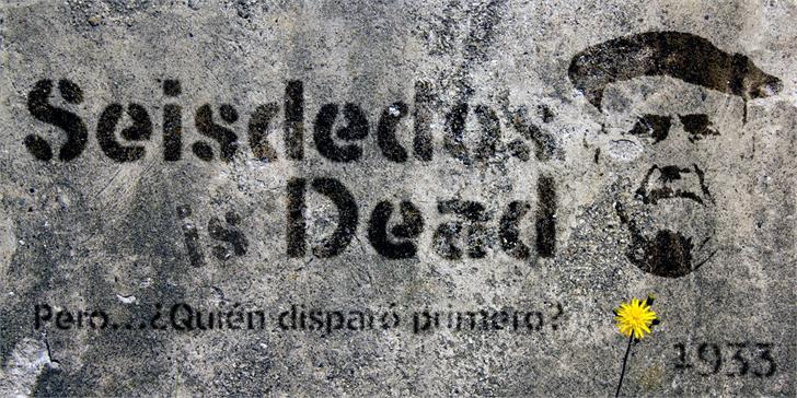 Seisdedos Dead font by deFharo