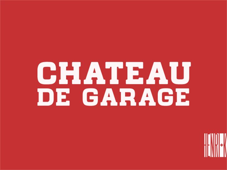 Image for Chateau de Garage font