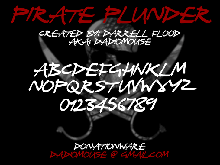 Image for Pirate Plunder font